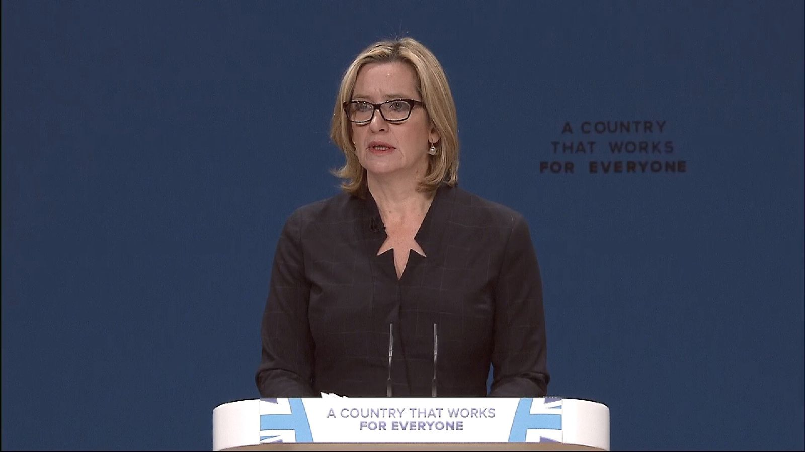 Home Secretary Amber Rudd speaks at Conservative Party Conference 2016