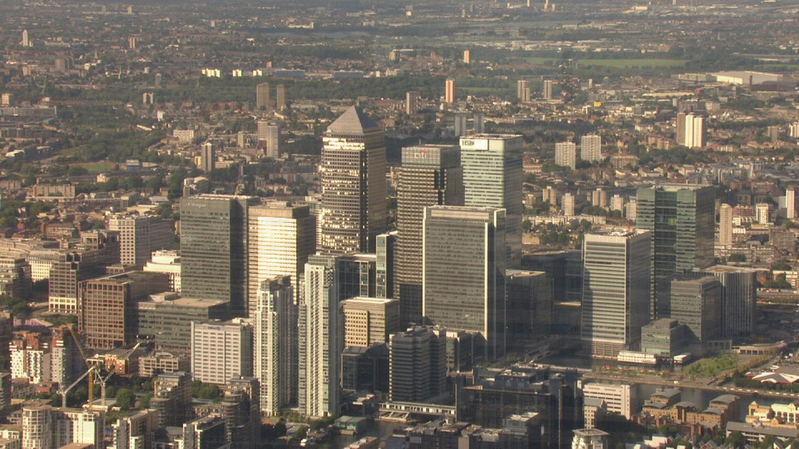 Canary Wharf is home to many world banks