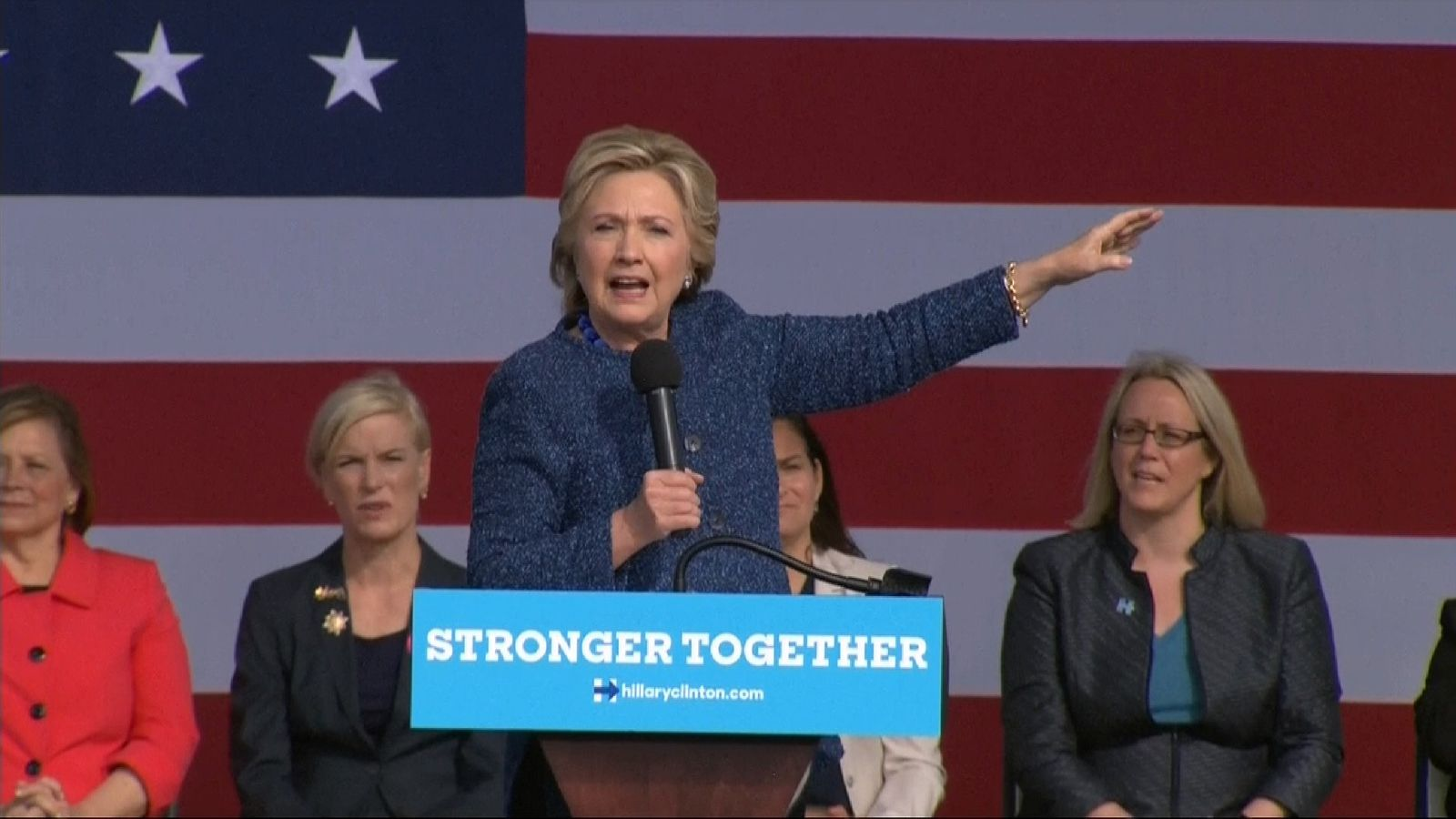 Hillary Clinton does not address FBI email investigation