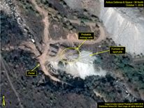 Nuclear site in North Korea. Pic: 38 North