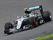 Mercedes driver Nico Rosberg on track during the Formula One Grand Prix of Japan at Suzuka Circuit which he won to lengthen his drivers' championship lead