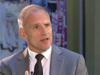 Tesco chief executive Dave Lewis is pleased with its turnaround progress so far
