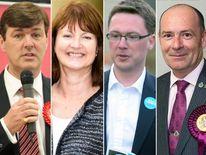 Duncan Enright, Liz Leffman, Robert Courts and Dickie Bird