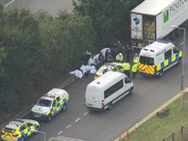 The lorry driver is helping police with their enquiries
