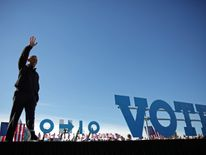 President Barack Obama at a campaign event in support of Hillary Clinton in Cleveland, Ohio, last week