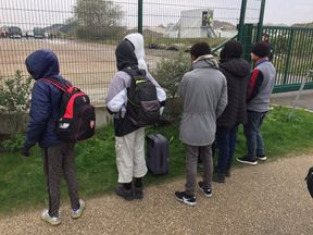 The first under 13's who qualify under the Alf Dubs amendment are on a bus to safety in the UK