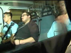 Rurik Jutting on his way to court
