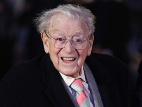 Jimmy Perry, the co-writer of Dad's Army, at a film premier earlier in 2016