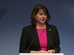 Leanne Wood addresses Plaid Cymru's party conference