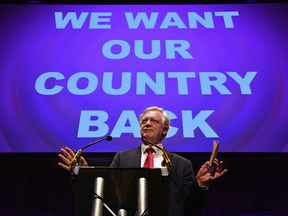 David Davis at a pro-Brexit rally on June 20, 2016
