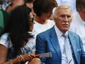 Sir Bruce picturedwith his wife at Wimbledon in July 2015