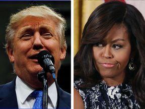 Donald Trump and Michelle Obama