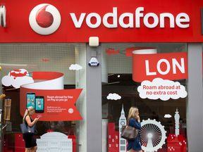 A Vodafone store