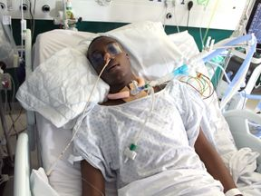 Jamel was left critically ill with wounds to his chest and leg.