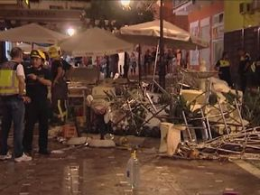 The explosion happened during a festival in the town