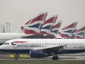 The alert occurred on board a BA flight. File picture