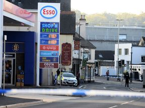 Police set up a cordon around a property in Newton Abbot