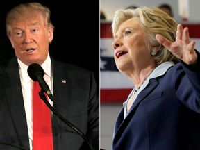 Donald Trump and Hilary Clinton campaign for the 2016 presidential election