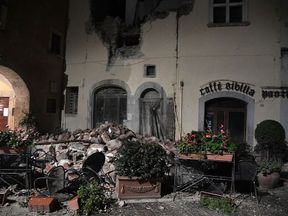 The village of Visso, central Italy, was badly hit