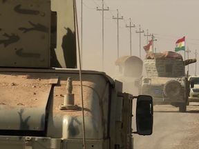 Iraqi forces on the road to Mosul where they hope to defeat Islamic State