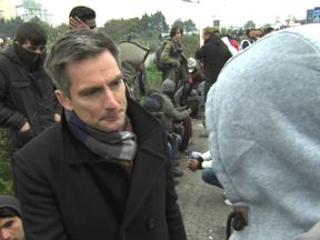 Anonymous Calais jungle resident speaks to Sky presenter