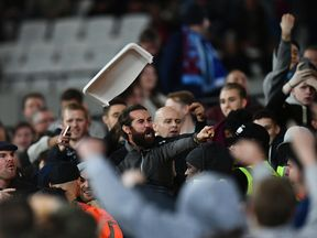 Trouble flares during West Ham's EFL tie against Chelsea