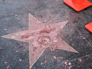 Donald Trump's Hollywood Walk of Fame star 'attacked with sledgehammer'
