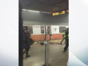Passengers smash windows as smoke fills Boston commuter train