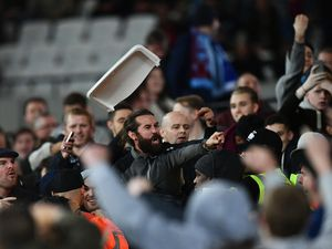 West Ham and Chelsea fans clash: Girl, eight, 'pelted with coins'