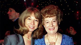Jean Alexander with Helen Worth, who plays Gail Rodwell in Coronation Street, at an awards ceremony in  1999.