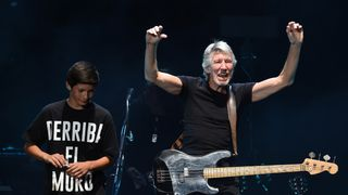 Roger Waters performs onstage during Desert Trip at the Empire Polo Field in Indio, California