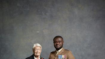 Marsie Taylor (left) and Corporal Ben Poku are part of the Royal British Legion remembrance campaign