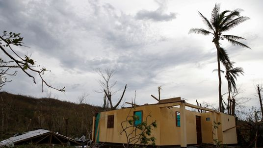 A destroyed house after Hurricane Matthew passes Jeremie, Haiti
