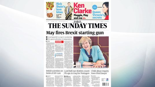Theresa May will start the Brexit countdown in the spring, the Sunday Times reports.