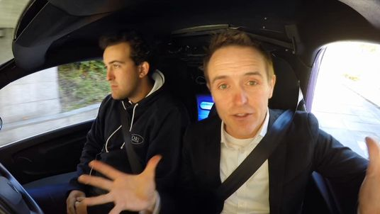 Tom Parmenter takes a ride in a driverless car