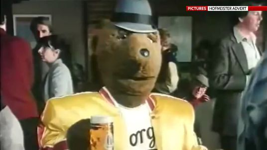 The Hofmeister bear advert from the 1980s