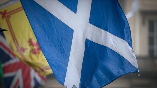 Scottish flag flies during independence referendum