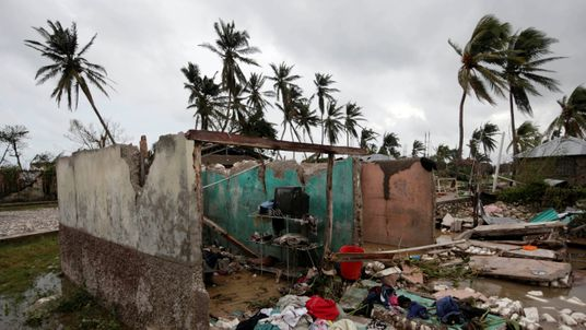 A house destroyed by Hurricane Matthew in Les Cayes, Haiti