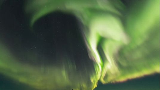 A particularly powerful Northern Lights' display in Iceland