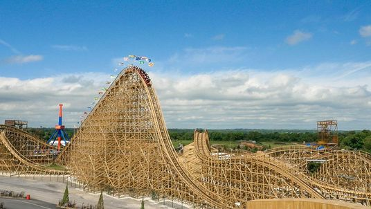 The Cu Chulainn is said to be the largest wooden rollercoaster in Europe