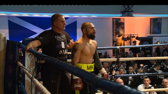 Mike Towell before the bout began on Thursday night. Pic: STV Glasgow