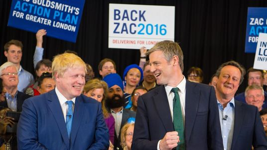 Zac Goldsmith and Boris Johnson on the campaign trail together