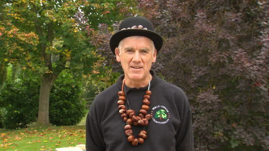 St John Burkett - one of the organisers of the World Conker Championships
