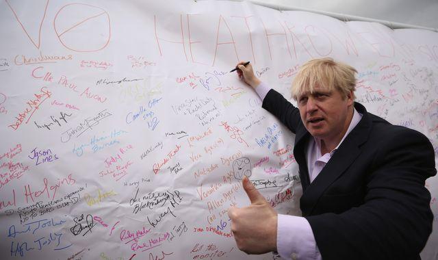 Boris Johnson says Heathrow third runway 'undeliverable'