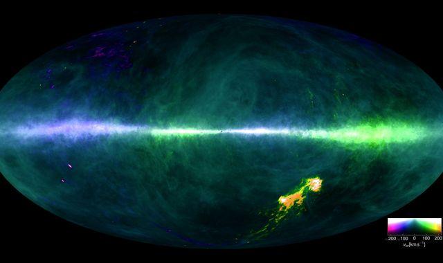 Secrets of galaxy revealed in first hydrogen Milky Way map