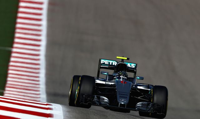 Rosberg fastest in US Grand Prix practice two
