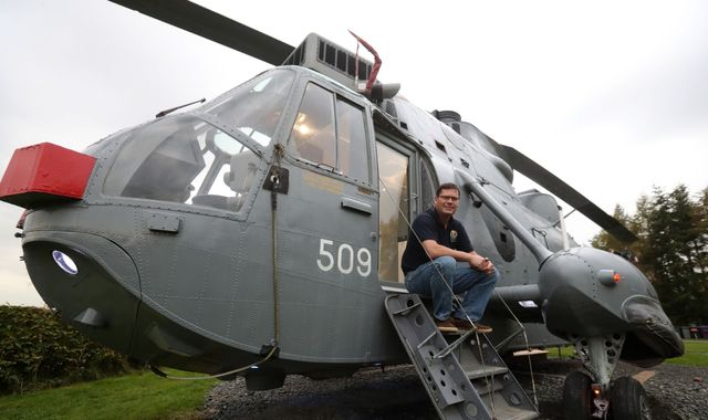 Royal Navy helicopter revamped into holiday home for six