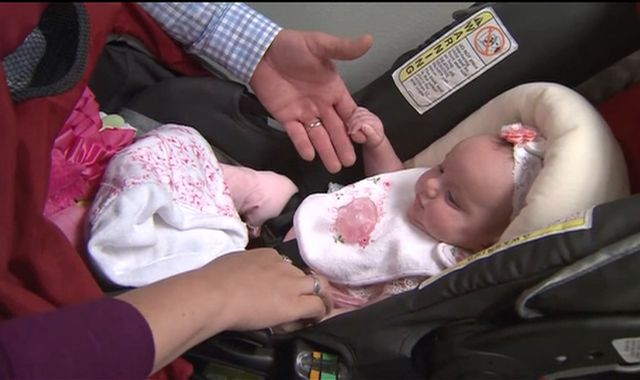 Baby LynLee 'born twice' after tumour surgery to save her life