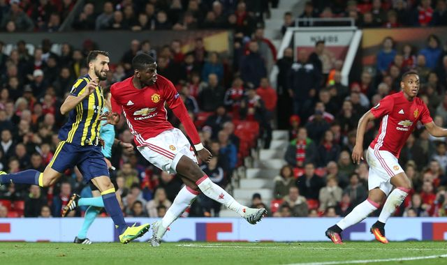 Paul Pogba double inspires United to 4-1 win