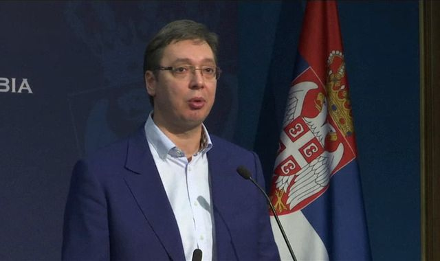 Police investigate weapons found near Serb PM's family home